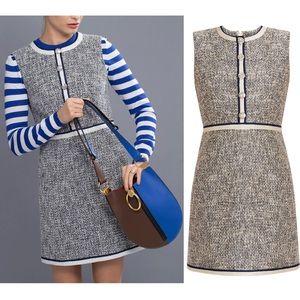 Veronica Beard Julie Tweed Shift Sleeveless Dress